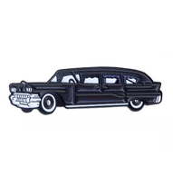 Sourpuss Hearse Lapel Pin - Cobalt Heights