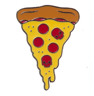 Sourpuss Pizza Lapel Pin - Cobalt Heights