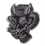 Sourpuss Wolf Lapel Pin - Cobalt Heights