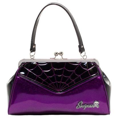 Sourpuss Spiderweb Backseat Baby Purse - Purple - Cobalt Heights