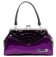 Sourpuss Spiderweb Backseat Baby Purse - Purple - Cobalt Heights