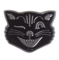 Sourpuss Black Cat Lapel Pin - Cobalt Heights