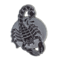 Kustom Kreeps / Sourpuss Scorpion Lapel Pin - Cobalt Heights