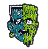 Sourpuss Terror Face Lapel Pin - Cobalt Heights