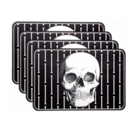 Sourpuss Skull PVC Placemat Set - Cobalt Heights