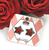 Jubly Umph Red Rose Studs - Cobalt Heights
