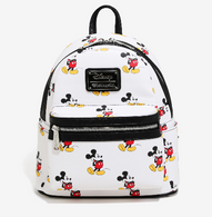 Loungefly X Disney Mickey Mouse Print Mini Backpack - Cobalt Heights