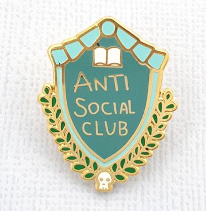 Jubly Umph Anti Social Club Lapel Pin - Cobalt Heights