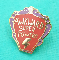 Jubly Umph Awkward Super Powers Lapel Pin - Cobalt Heights