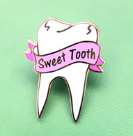 Jubly Umph Sweet Tooth Lapel Pin - Cobalt Heights