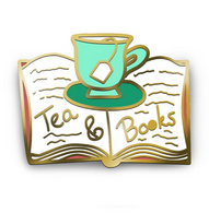 Jubly Umph Tea and Books Lapel Pin - Cobalt heights