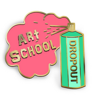 Jubly Umph Art School Dropout Lapel Pin - Cobalt Heights