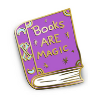 Jubly Umph Books Are Magic Lapel Pin - Cobalt Heights