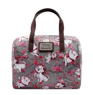 Loungefly X Disney Grey Marie Floral Handbag - Cobalt Heights