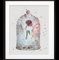 Watercolour Inspired Rose Jar Print - Cobalt Heights