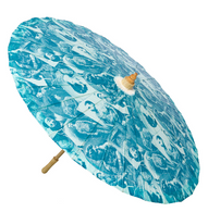 Sourpuss Old Timers Parasol - Side - Cobalt Heights