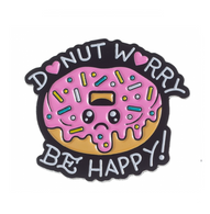 Sourpuss Donut Worry Lapel Pin - Cobalt Heights
