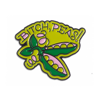 Sourpuss Bitch Peas Lapel Pin - Cobalt Heights