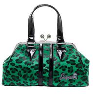 Sourpuss Leopard Temptress Purse - Green - Cobalt Heights