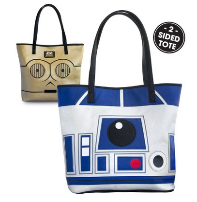 Loungefly X Star Wars R2-D2 C-3PO Double Sided Tote Handbag - Cobalt Heights