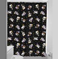 Sourpuss Monster Kewpies Shower Curtain - Cobalt Heights