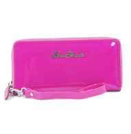 Starstruck Sparkle Vinyl Wallet - Hot Pink - Cobalt Heights