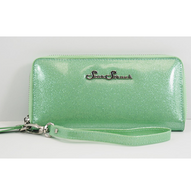 Starstruck Sparkle Vinyl Wallet - Mint Green - Cobalt Heights
