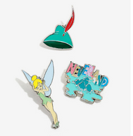 Loungefly X Disney Peter Pan Tinkerbell Enamel Pin Set - Cobalt Heights