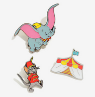 Loungefly X Disney Dumbo Enamel Pin Set - Cobalt Heights