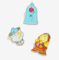 Loungefly X Disney Beauty And The Beast Enamel Pin Set - Cobalt Heights