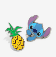Loungefly X Disney Stitch Pineapple Enamel Pin Set - Cobalt Heights