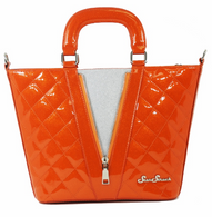 Starstruck Vixen Tote - Orange and Silver - Cobalt Heights