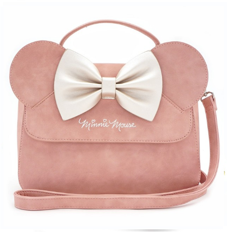 18eda53e32c Loungefly X Disney Pink Minnie Mouse Ears Crossbody Purse - Back - Cobalt  Heights. See 2 more pictures. Hover over main image to zoom
