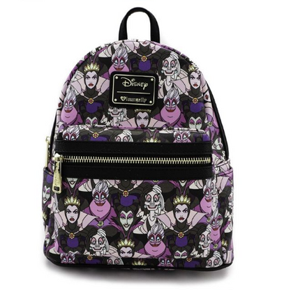 Loungefly X Disney Villains Portraits Mini Backpack - Cobalt Heights