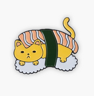 The Sunday Co Sushi Cat Enamel Pin - Cobalt Heights