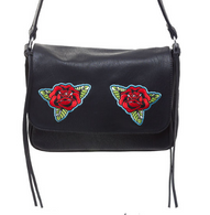 Sourpuss Traditional Roses Cheap Thrills Purse - Cobalt Heights
