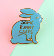 Jubly Umph Some Bunny Cares Lapel Pin - Cobalt Heights