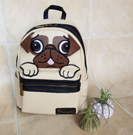 Loungefly Pug Face Mini Backpack - Cobalt Heights