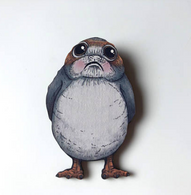 Hungry Designs Blushing Porg Brooch - Cobalt Heights