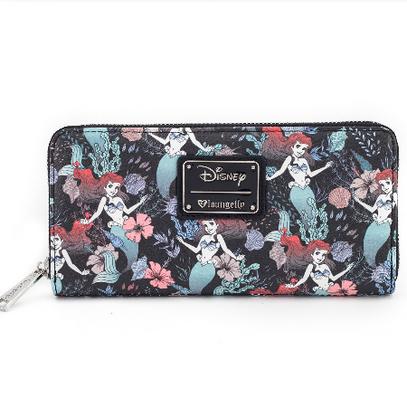 Loungefly X Disney Ariel Floral Wallet - Cobalt Heights