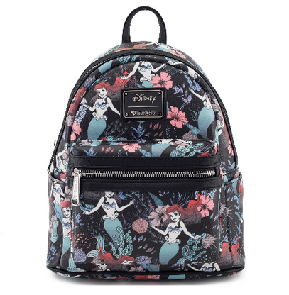 Loungefly X Disney Ariel Floral Mini Backpack - Cobalt Heights