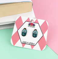 Jubly Umph Message In A Bottle Studs - Cobalt Heights