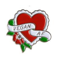 Sourpuss Vegan AF Enamel Pin - Cobalt Heights