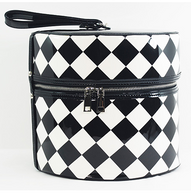 Starstruck Hat Box - Checkers - Side - Cobalt Heights