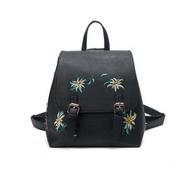 Madeline Embroidered Backpack - Black - Cobalt Heights