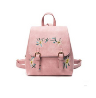 Madeline Embroidered Backpack - Blush Pink - Cobalt Heights
