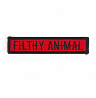 Sourpuss Filthy Animal Iron On Patch - Cobalt Heights