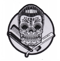 Sourpuss Dapper Skull Iron On Patch - Cobalt Heights