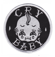 Sourpuss Cry Baby Iron On Patch - Cobalt Heights