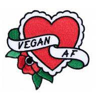 Sourpuss Vegan AF Iron On Patch - Cobalt Heights